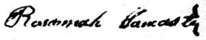 Rosannah lancaster signature